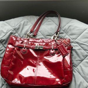 Coach patent leather satchel
